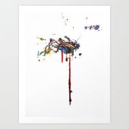 Dos Splatter  Art Print