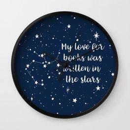 SAGITTARIUS: Written in the Stars Wall Clock