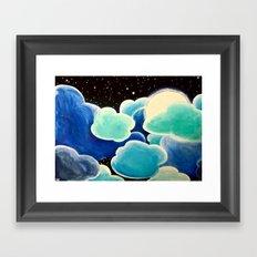 Blue Night Framed Art Print