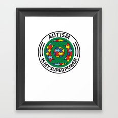 Autism is my superpower Framed Art Print