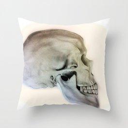 Side Skull Throw Pillow