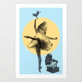 Ballerina Fish Art Print