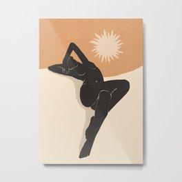 Minimal Abstract Art Nude Woman 4 Metal Print