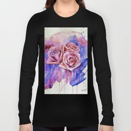 A ROSE BY ANY OTHER NAME- RED & BLUE  Long Sleeve T-shirt