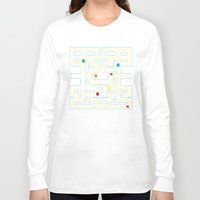 pacman Long Sleeve T-shirts featuring Pacman by Virbia