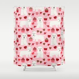 Westie west highland terrier dog breed valentines day cute dog person must have gifts pet portraits Shower Curtain