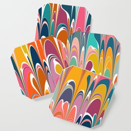 Colorful Abstract Design Coaster