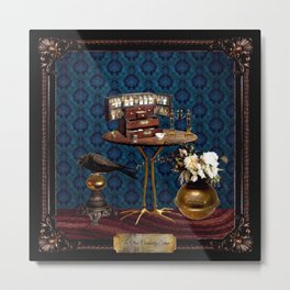 The Curiosity Shop Table Metal Print