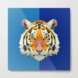 Graphic Tiger Metal Print