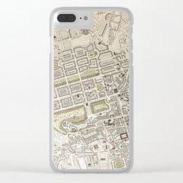 19th Century Topographical Vintage Antique Map Edinburgh Scotland Steampunk Clear iPhone Case