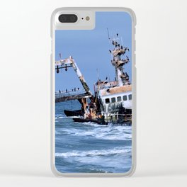 Shipwreck on the Coast of the Skeletons, Namibia Clear iPhone Case