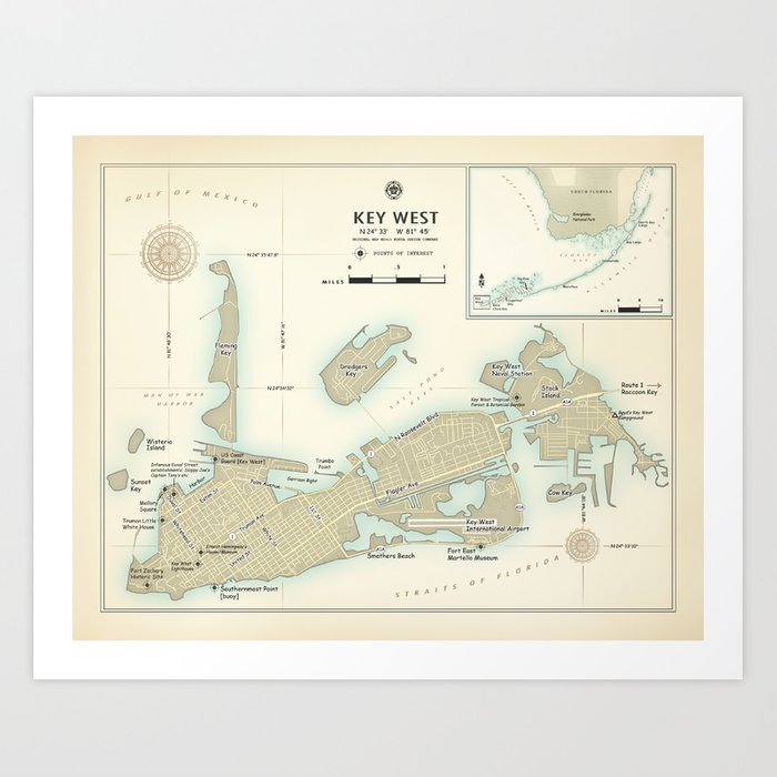 picture regarding Printable Map of Key West identified as Solution West \