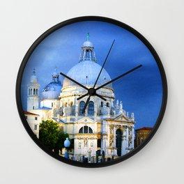 Evening at the Santa Maria della Salute Wall Clock