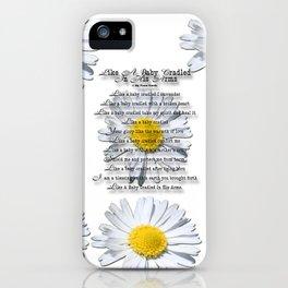 Daisy Flower with Christian Faith Base Poem iPhone Case