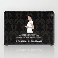 scandal iPad Cases featuring A Scandal in Belgravia - Irene Adler by MacGuffin Designs