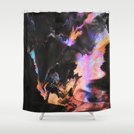 Effort to breathe:Corruption Shower Curtain