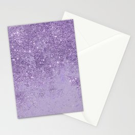 Modern elegant lavender lilac glitter marble Stationery Cards