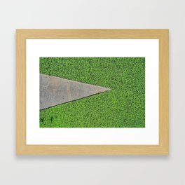 Green Urban Street Texture - Bicyle Path Framed Art Print
