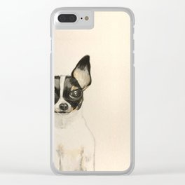 Chihuahua - the tiny dog Clear iPhone Case
