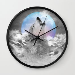 Maybe the Wolf Is In Love with the Moon Wall Clock