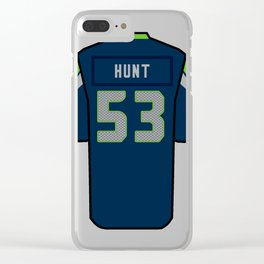 Joey Hunt Jersey Clear iPhone Case