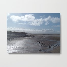 NORTHAM BURROWS BEACH NORTH DEVON Metal Print