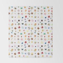 animal crossing pattern Throw Blanket