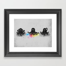 4-color squid Framed Art Print