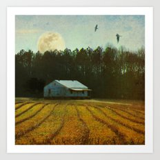 Fallow Moon Landscape Art Print