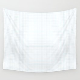 Blue Grid Wall Tapestry