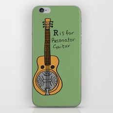 R is for Resonator Guitar iPhone & iPod Skin