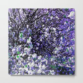 TREES PURPLE AND WHITE Metal Print