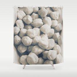 Garbanzo Beans in Soft Sepia Shower Curtain