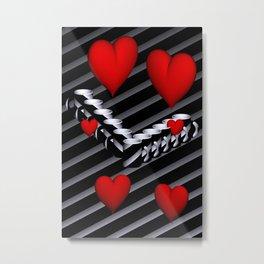 OpArt -51- Valentine coffeetime Metal Print