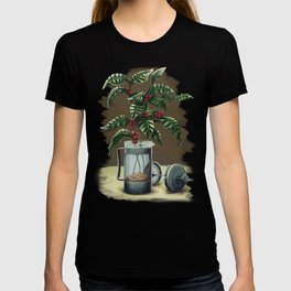 French Press Coffee Plant T-shirt