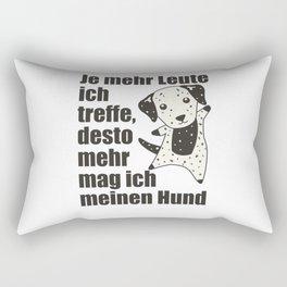 Dog Dalmatian Doesn't Like People Cute Dogs Rectangular Pillow