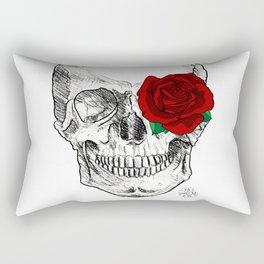 Rose Skull Rectangular Pillow