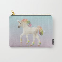 Colorful Unicorn Low Poly Polygonal Illustration Carry-All Pouch