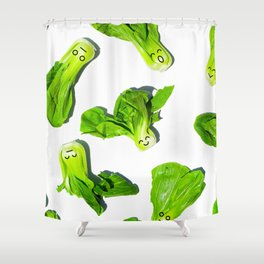 Bak Choy Happiness Shower Curtain