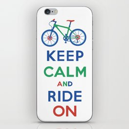 Keep Calm and Ride On iPhone Skin