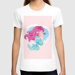 Cute mermaid illustration T-shirt