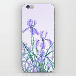 purple iris watercolor iPhone Skin