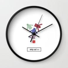 unique ad Wall Clock