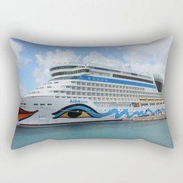 AIDAluna cruise ship anchered off Grenada island Rectangular Pillow