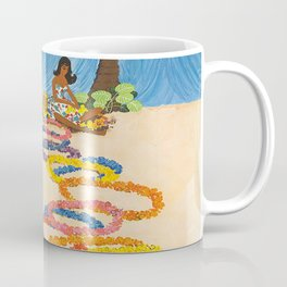 Hawaii Vintage Retro Travel Poster Coffee Mug