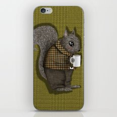An Early Morning For Mister Squirrel iPhone & iPod Skin