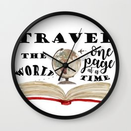 Travel the world Wall Clock