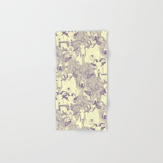just goats purple cream Hand & Bath Towel
