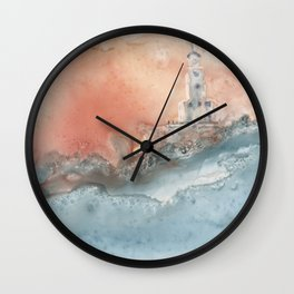 Storm at North Manitou Island Shoal Wall Clock
