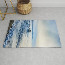 Frozen wharf and Halo Rug